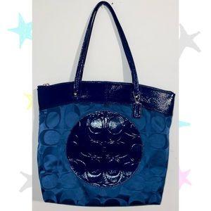Navy Blue Authentic Coach Bag
